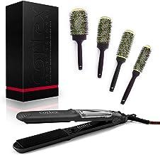 Cortex Professional Steamliner Vapor Iron Hair Straightener 1.50 Inch Ceramic Tourmaline Steamer with 4 Piece Brush Salon ...
