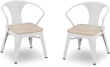 Delta Children Bistro 2-Piece Chair Set, White with Driftwood