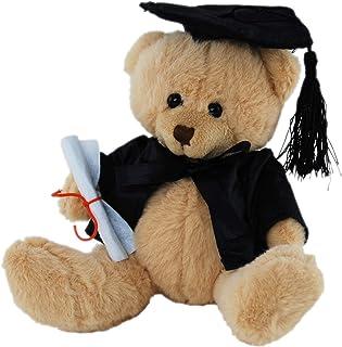 Elka Australia 2600-GRAD Graduation Teddy Bear Soft Plush Toy, Brown, 14 Centimeters