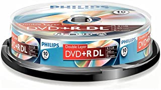 Philips DVD+R DR8S8B10F/00 - DVD+RW vírgenes (8,5 GB, DVD+R