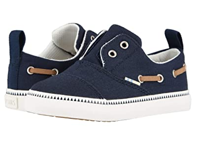 TOMS Kids Pasadena (Toddler/Little Kid) (Navy Canvas) Boy