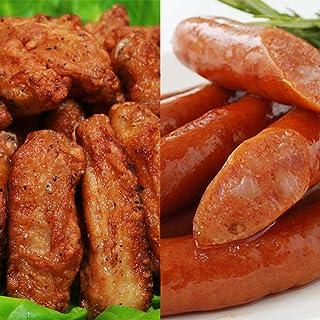 [スターゼン] 肉総菜 旨辛セット 1,5kg(チキンスティックスパイシー 1kg + 激辛ウインナー 500g)冷凍食品 おつまみ