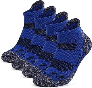 Running Socks, GUUMOR 4 Pack Compression Athletic Socks Moisture Wicking Socks Low Cut Ankle Socks for Men Women