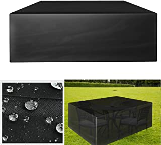 GreenEur - Juego de fundas para muebles de patio, impermeables, fundas para muebles de jardín al aire libre, sofás, sillas de patio
