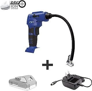 Sun Joe 24V-AJC-LTE-SJB 24V 2.0-Ah Air Joe Pro Digital Cordless Air Compressor w/Nozzle Adapters & Case