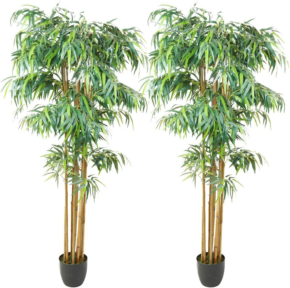 SN Decor 格安激安 7ft Artificial Bamboo ディスカウント Tree Tall Potted Indoor - Faux Fl