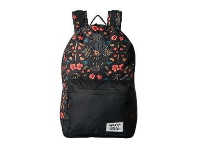 Burton Kettle Pack (Black Fresh Pressed Print) Backpack Bags