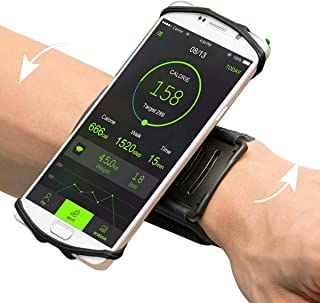 VUP iPhone X/ 8/8 Plus7/ 7 Plus/ 6/ 6S Plus Wristband, 180° Rotatable Phone Holder Forearm Armband Ideal for Jogging Running Compatible with Samsung Galaxy S8/S7 & 4.0
