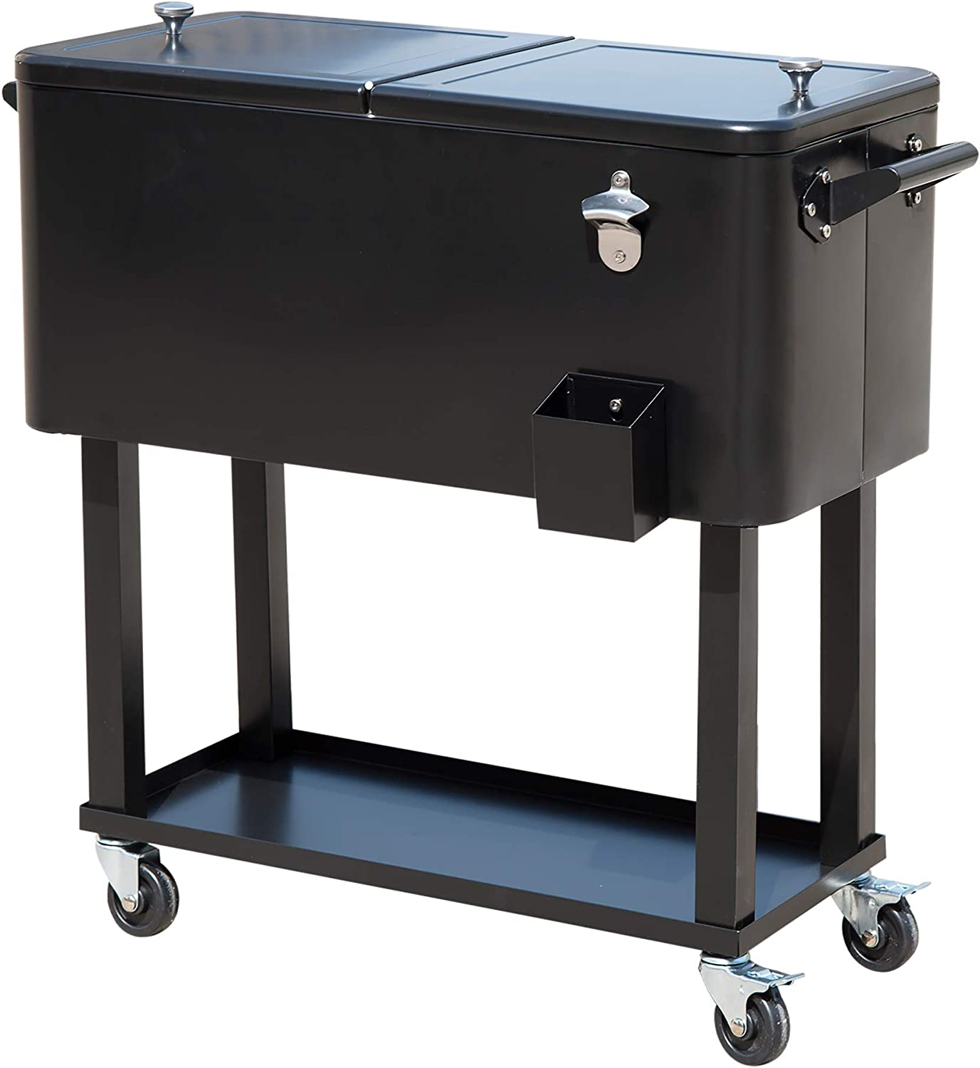 quality assurance Outsunny 80 QT Trust Rolling Cooler Ice Wheels Stand on Chest Outdoor