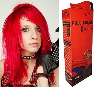 Premium Permanent Hair Colour Cream Dye Fire Red 055 Punk Goth by Starlist