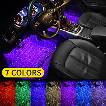Aukmak Atmosphere Car Interior Light LED Neon Accent Lighting Kits Stars LED Accent Under Dash Multicolor Light