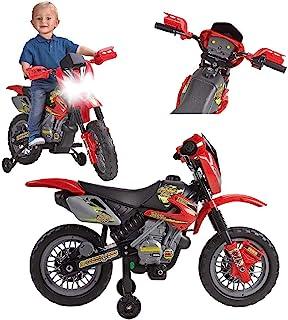 FEBER 6V Motorbike Cross, 400F, 6 V, Color Negro, Gris, Rojo, Amarillo (Famosa 800011250)