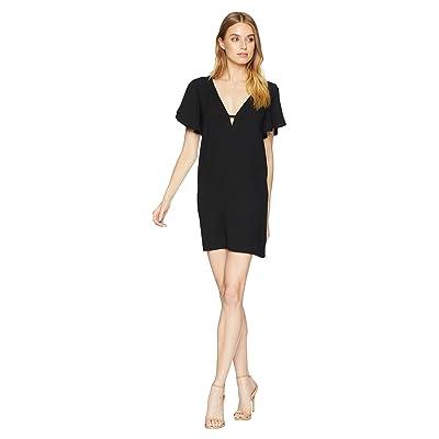 Jack by BB Dakota 0 to 100 Rayon Crepe Deep V Dress (Black) Women
