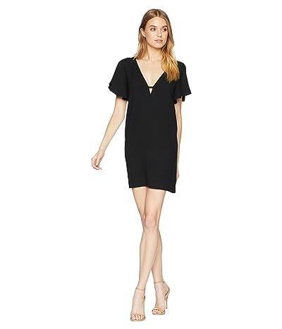 BB Dakota 0 to 100 Rayon Crepe Deep V Dress (Black) Women