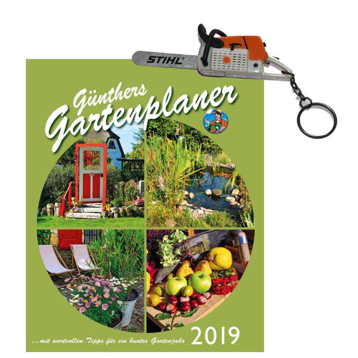Jardín calendario 2018 Günthers jardín agenda 2018 + llavero motosierra con ruido Stihl: Amazon.es: Jardín