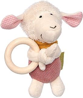 Sigikid Mädchen und Jungen, Greifling Schaf Green Collection, Babyspielzeug, empfohlen ab 3 Monaten, rosa/weiß, 39231
