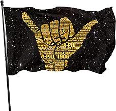 Best LUENSRO Alpha Phi Alpha Flag - Brass Grommets Vivid Color 3x5 Feet Home Decoration,Garden Decoration,Outdoor Decoration,Holiday Decoration,Farm Decoration,Anniversary Decoration Review