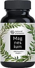 Premium Magnesiumcitrat - Vergleichssieger 2019* - 2250mg davon 360mg elementares Magnesium pro Tagesdosis - 180 Kapseln - Laborgeprüft, hochdosiert, hergestellt in Deutschland