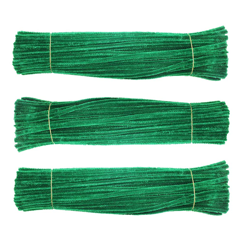 Chenille Stem 300 PCS Dark Green Pipe Cleaners 6MM x 12 INCH Twistable Stems Children's Bendable Sculpting Sticks for Crafts and Arts (Dark Green)
