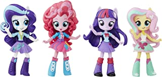 "My LITTLE PONY 4.5"" Twilight Sparkle, Pinkie Pie, Rarity & Fluttershy set - Equestria Girls Mini 4 Pack - Sparkle Collection - Kids Toys - Ages 5+"