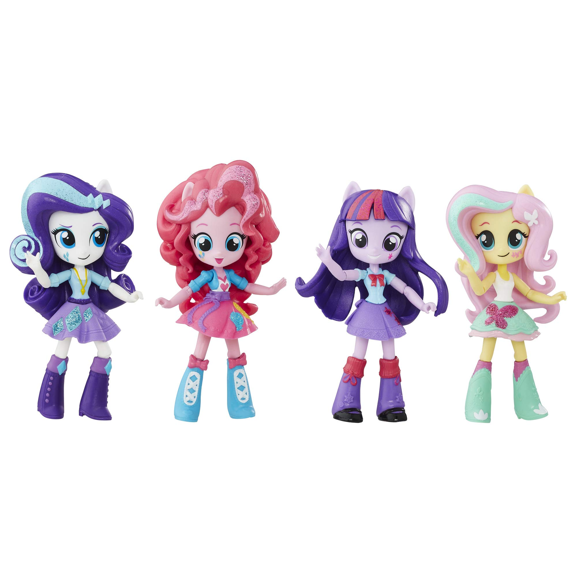 마이 리틀 포니: 이퀘스트리아 걸스 미니 인형 My Little Pony Twilight Sparkle, Pinkie Pie, Rarity & Fluttershy Toys - Equestria Girls 4.5-Inch Mini-Dolls