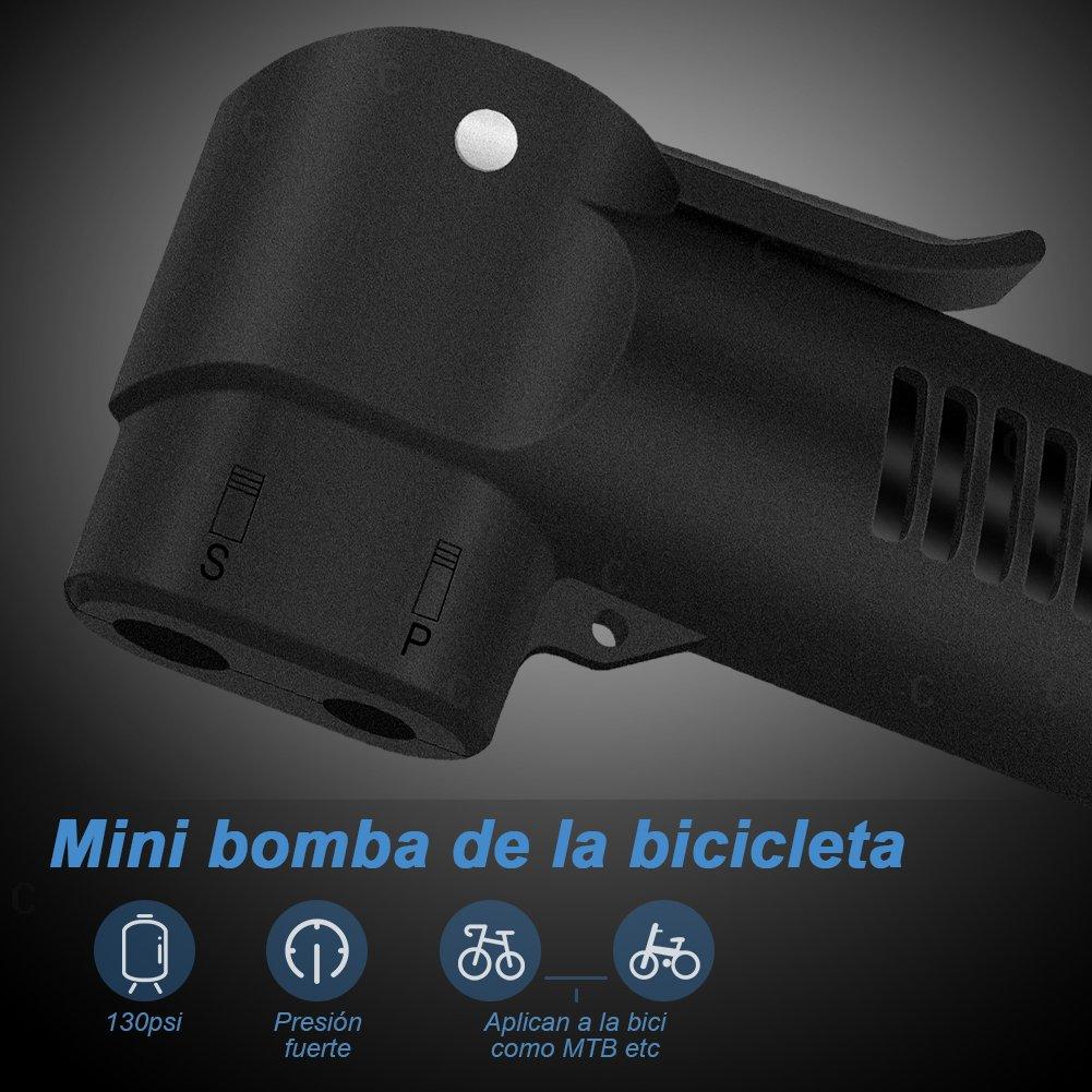 GHB Bomba de Aire Bici Bomba Portátil para Bicicleta Bombin ...