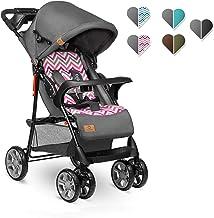 Lionelo Emma Plus Kinderwagen Kindersportwagen leicht modern klein Buggy mit Liegeposition zusammenklappbar Pink Scandi