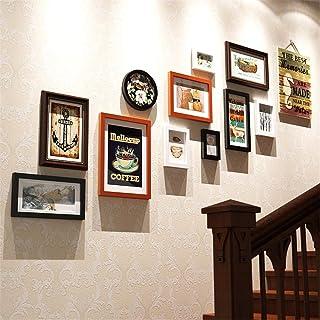 AA-Photo Frame XIKU Escaleras Creativas de la Pared de la Foto Cuadros Redondos del