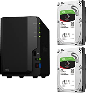 【NAS HDDセット】Synology DS218 & Seagate HDD [2ベイ / HDD IronWolf-4TBx2台同梱 / 64bitクアッドコアCPU 2GBメモリ搭載]