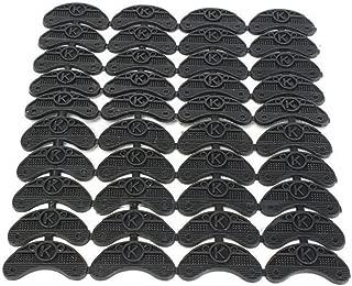 Binglinghua 40PCS Pairs Rubber Sole Heel Savers Toe Plates Taps DIY Glue on Shoe Repair Pads