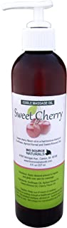 Sweet Cherry Edible Massage Oil 8 fl. oz. Pump with All Natural Plant Oils