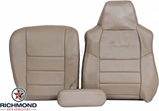Richmond Auto Upholstery - Driver Side Complete Replacement Leather Seat Cover, Tan (Compatible with 2002 2003 2004 Ford Excursion Limited 7.3L Diesel)