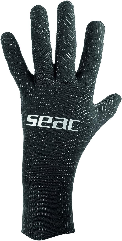 Anti-Slip XS XXL Black SEAC Unisexs Ultraflex 2-5 mm Ultra-Elastic Neoprene Gloves for Diving and Spearfishing