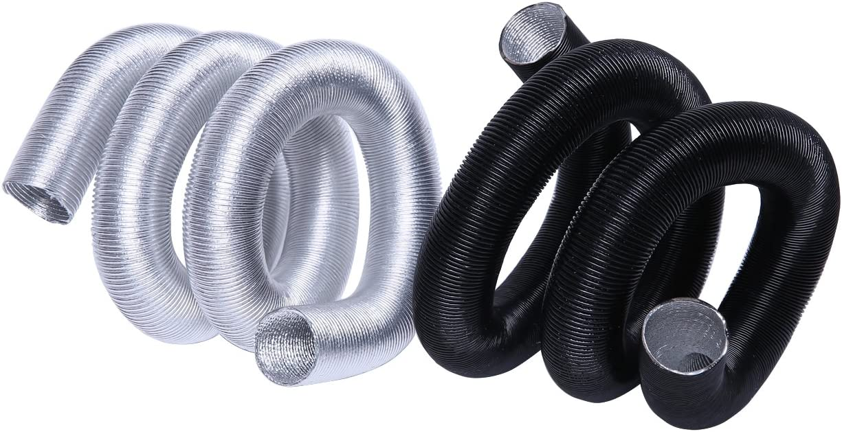 Hiwowsport Silver Thermo-Flex Wire-Hose Insulation Cool-Tube Heat Shield 3feets , Silver 1//2 3FT X 13MM