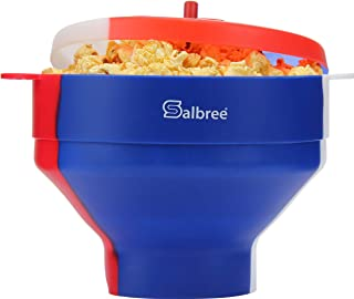 Original Salbree Red White & Blue, American Pride, Microwave Popcorn Popper, Silicone Popcorn Maker, Collapsible Bowl - Th...