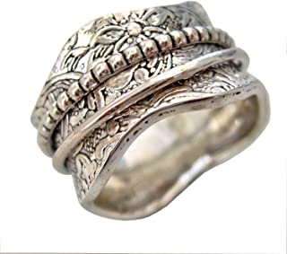 JewelsExporter Sterling Silver Ring.Spinner Ring Spin-Pray Ring6us Meditation Ring
