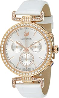 Swarovski Era Journey Women's White Dial Leather Band Watch - 5295369
