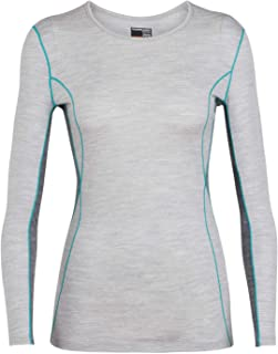 Icebreaker Merino Women's Oasis Midweight Base Layer Deluxe Long Sleeve Crew Neck Shirt, Merino Wool