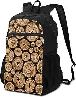 Mochila de viaje para senderismo elegante, hecha de madera, redonda, de forma orgánica, para viajes, para mujer, ligera, impermeable, para hombres y mujeres, acampada Outdo