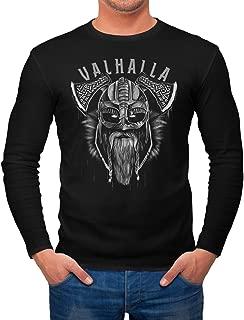 Hoodie Herren Aufdruck Valhalla Wikinger Helm Viking Odin Krieger