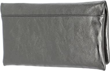 Abro Leather Mimosa Clutch Bag M Guncolor