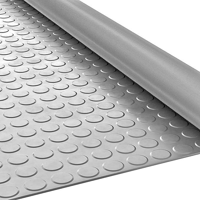 ANRO Gummimatte Schutzmatte Noppenmatte Bodenmatte mit Noppen Gummil/äufer 120cm Breit 3mm stark Schwarz 90 x 120cm