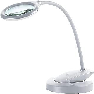 Northpoint Kabellose Echtglas Lupenlampe mit Akku Lupenleuchte 2x Vergrößerung 2500mAh Li-Io Akku ca. 4h Laufzeit 3-stufig Dimmbar Weiß
