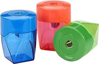 Artlicious 3 Colorful Compact Metal Pencil Sharpener Value Pack - Colored Pencils, Watercolor Pencils, School Pencils