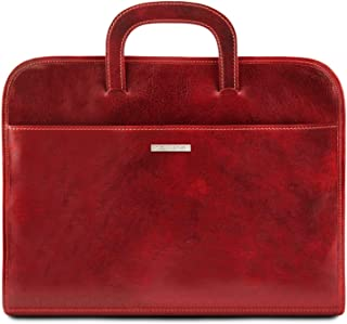 Tuscany Leather - Sorrento - Document Leather Briefcase - TL141022 (Red)