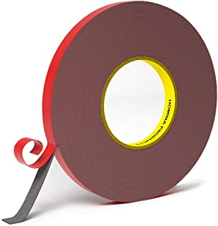 Double Sided Tape, HOMINA 1cm x 10m Heavy Duty Mounting Tape Waterproof Foam Tape Pressure-Sensitive Adhesive, for Led Str...