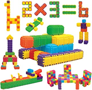 Toddler Blocks Child STEM Education - 150 Pieces - Build Projects Toy Accessories, Cubes, Shapes and More. Ages 3 Year and up.