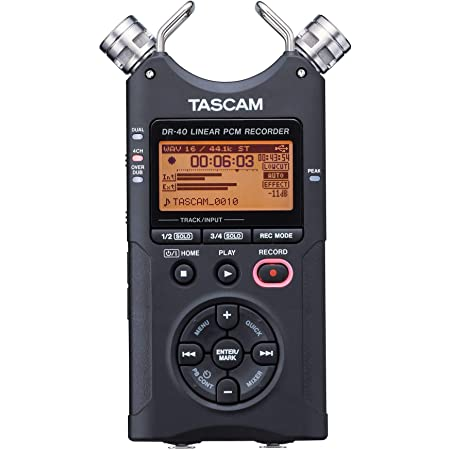 TASCAM DR-40 4-Track Portable Digital Recorder (Renewed)
