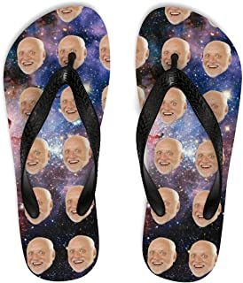 Custom Face Flip-Flops, Your Photo on Personalized Unisex Flip Flops, Vacation Gift idea