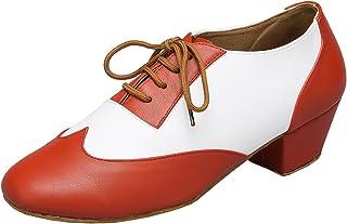 Minitoo Men's TH177 Fashion Lace-up Leather Wedding Ballroom Latin Taogo Dance Shoes